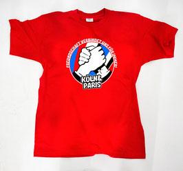 Köln Paris Freundschaft Shirt Rot