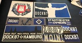 Hamburg Szeneklebermix 6704 Sehr grosse Aufkleber