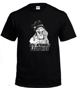 Voll normale Leute hier ( 1 Kopf Comic ) Shirt Schwarz