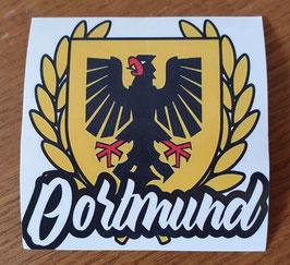 Dortmund Stadtwappen goldener Lorbeerkranz Aufkleber