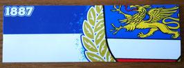 150 Rostock blau weiss Zahl und Wappen Aufkleber