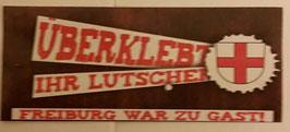 150 Freiburg überklebt Aufkleber