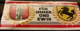 150 Stuttgart Kaiserslautern für immer und ewig Aufkleber
