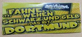 150 Dortmund Fahnen wehen schwarz und gelb Aufkleber
