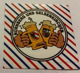 150 Nürnberg Gelsenkirchen Freundschaft Bier Aufkleber