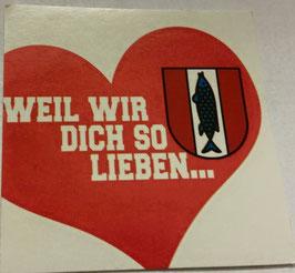 150 Kaiserslautern weil wir dich so lieben Aufkleber