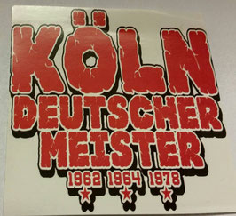 150 Köln Deutscher Meister Aufkleber