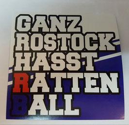 150 Ganz Rostock hasst Rattenball Aufkleber