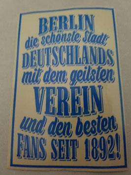 150 Berlin die schönste Stadt Riesen Aufkleber