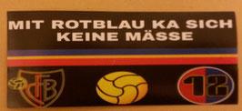150 Basel mit rotblau ka sich keine mässe Aufkleber