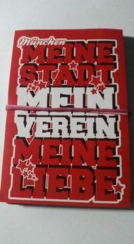 150 München Meine Stadt Mein Verein Sterne Aufkleber