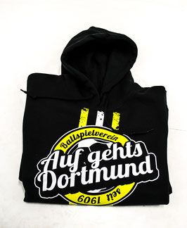 Dortmund auf gehts Hoodie Schwarz