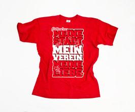 München Meine Stadt Mein Verein Meine Liebe Stern Shirt Rot