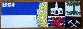 150 Gelsenkirchen blau weiss Zahl und Wappen Aufkleber