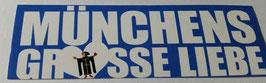 150 München Blau wahre Liebe Aufkleber