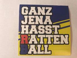 150 Ganz Jena hasst Rattenball Aufkleber