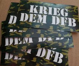 Krieg dem DFB Aufkleber 150 Stück