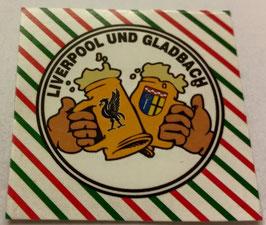 150 Gladbach Liverpool Freundschaft Bier Aufkleber