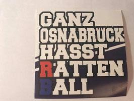 150 Ganz Osnabrück hasst Rattenball Aufkleber