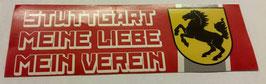 150 Stuttgart Meine Liebe Mein Verein länglich Aufkleber