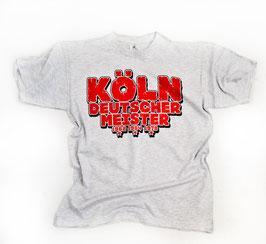Köln Deutscher Meister Shirt Grau