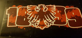 150 Frankfurt 1899 Graffiti und Adler 12x5 Aufkleber