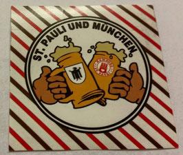 150 München Pauli Freundschaft Bier Aufkleber