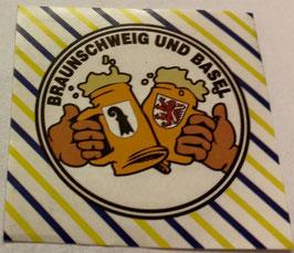 150 Basel Braunschweig Freundschaft Bier Aufkleber