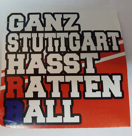 150 Ganz Stuttgart hasst Rattenball Aufkleber