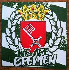 150 Bremen we are Bremen Aufkleber