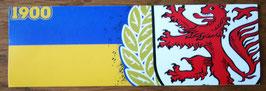 150 Braunschweig Gelb Blau mit Zahl und Wappen Aufkleber