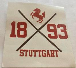Stuttgart 1893 Kreuz Aufkleber