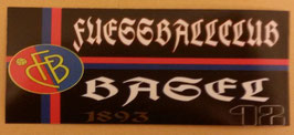150 Fussballclub Basel Schwarz Aufkleber