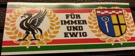 150 Gladbach Liverpool für immer und ewig Aufkleber
