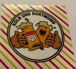 150 Köln Dortmund Freundschaft Bier Aufkleber