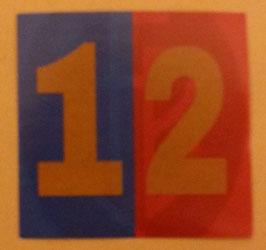 150 Basel rot blau 12 6x6 Aufkleber