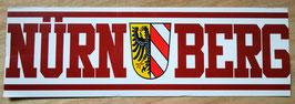 Nürnberg Stadtname Stadtwappen länglich Aufkleber