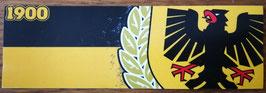 150 Dortmund Gelb Schwarz Zahl und Wappen Aufkleber