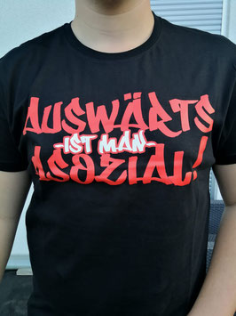 Auswärts Asozial Schwarz Shirt