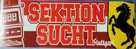Stuttgart Sektion Sucht Aufkleber