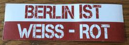 Berlin ist weiss rot Aufkleber