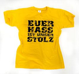 Euer Hass ist unser Stolz Shirt Gelb/Schwarz