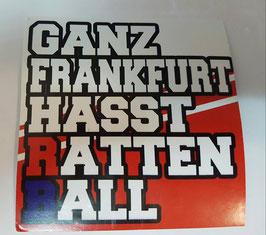 150 Ganz Frankfurt hasst Rattenball Aufkleber