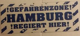 150 Hamburg Gefahrenzone Aufkleber