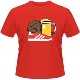 Köln Ball Bier Schuhe Shirt rot