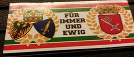 150 Bremen Essen für immer und ewig Aufkleber