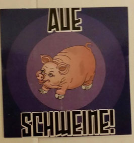 150 Aue Schweine Aufkleber