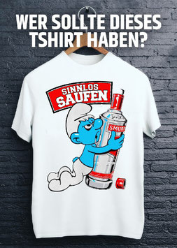 Sinnlos Saufen Shirt weiss