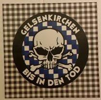 150 Gelsenkirchen bis in den Tod Rund Aufkleber