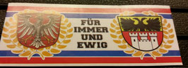 150 Frankfurt Duisburg für immer und ewig Aufkleber